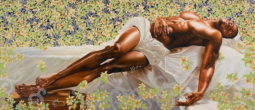 """The Sleeper"", 2008.  Oil on canvas, 132"" x 300"" inches (11' x 25' feet)."
